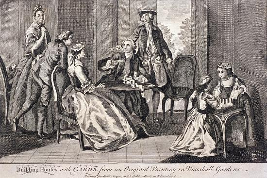 Building Houses with Cards', C1745-Benjamin Cole-Giclee Print