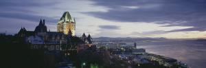 Building Lit Up at Dusk, Chateau Frontenac, Quebec City, Quebec, Canada