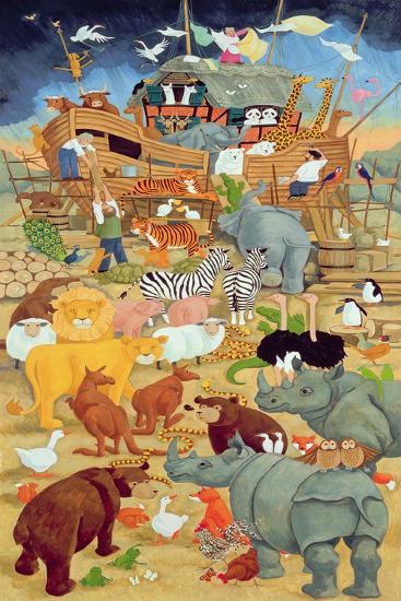 Building Noah's Ark-Linda Benton-Giclee Print