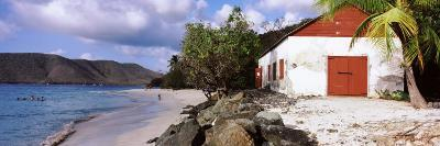 Building on the Beach, Cinnamon Bay, Virgin Islands National Park, St. John, US Virgin Island--Photographic Print