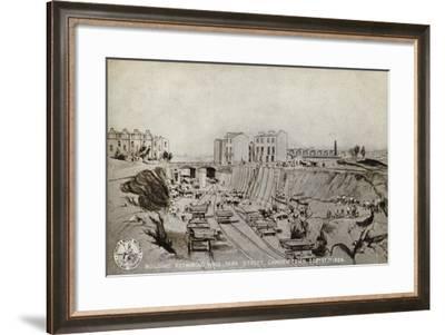 Building Retaining Wall, Park Street, Camden Town, Sept. 17th 1836--Framed Giclee Print