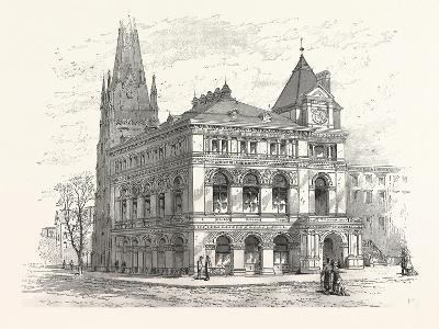 Building the Long Island Historical Society. from Sketch by C. Keetels--Giclee Print