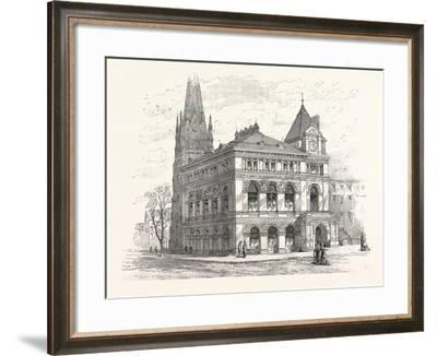 Building the Long Island Historical Society. from Sketch by C. Keetels--Framed Giclee Print