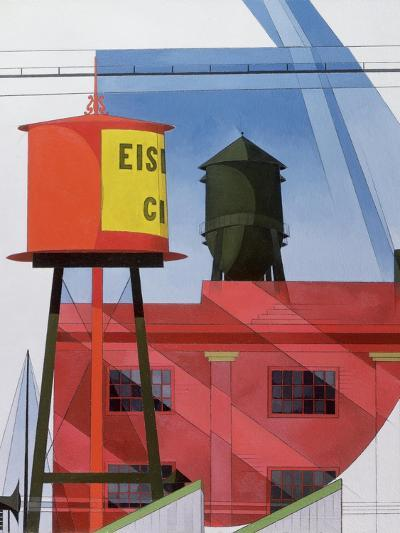 Buildings Abstraction, Lancaster, 1931 (Oil on Board)-Charles Demuth-Giclee Print