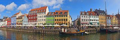 Buildings Along a Canal with Boats, Nyhavn, Copenhagen, Denmark--Photographic Print