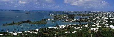 Buildings Along a Coastline, Bermuda--Photographic Print