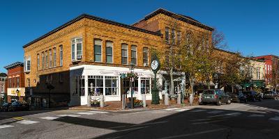 Buildings along a street, Bath, Sagadahoc County, Maine, USA--Photographic Print