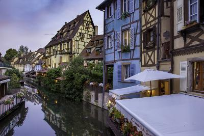 Buildings and Canal of Little Venice, Colmar, Alsace, France-Brian Jannsen-Photographic Print