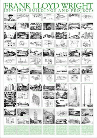 Buildings and Projects, 1869-1959-Frank Lloyd Wright-Art Print