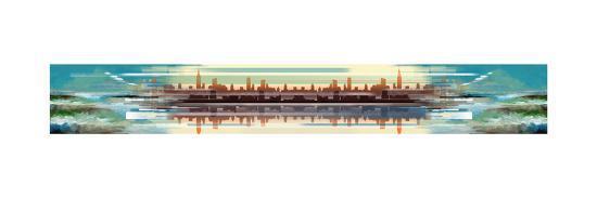 Buildings and Seascape I-Stuart Roy-Art Print
