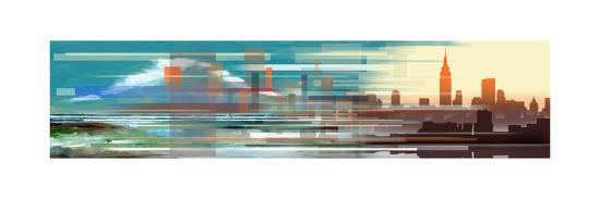 Buildings and Seascape II-Stuart Roy-Art Print