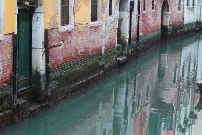 Buildings and Their Reflections in Canal Water-Joe Petersburger-Photographic Print