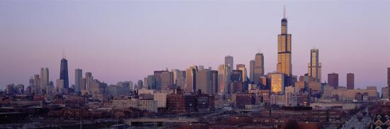 Buildings at Dusk, Chicago, Illinois, USA--Photographic Print
