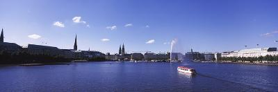 Buildings at the Waterfront, Alster Lake, Hamburg, Germany--Photographic Print