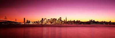Buildings at the Waterfront, Bay Bridge, San Francisco Bay, San Francisco, California, USA--Photographic Print