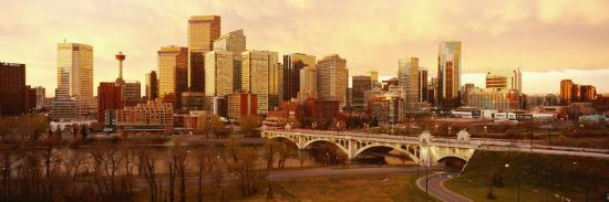 Buildings at the Waterfront, Bow River, Calgary, Alberta, Canada--Photographic Print