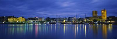 Buildings at the Waterfront, City Hall, Oslo, Norway--Photographic Print