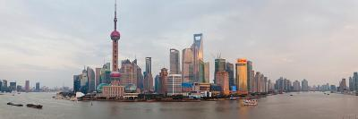 Buildings at the Waterfront, Pudong, Huangpu River, Shanghai, China--Photographic Print