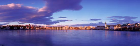 Buildings at Waterfront, Tjornin, Reykjavik, Iceland--Photographic Print