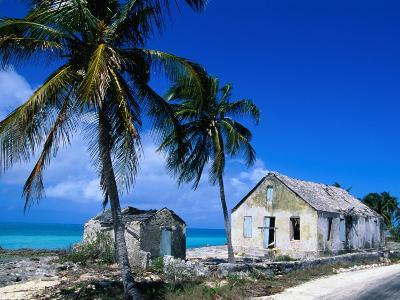 Buildings from an Old Settlement on the Shore, Cat Island, Bahamas-Greg Johnston-Photographic Print