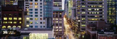 Buildings in a City, Hornby Street, Vancouver, British Columbia, Canada--Photographic Print
