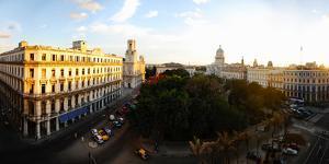 Buildings in a City, Parque Central, Old Havana, Havana, Cuba
