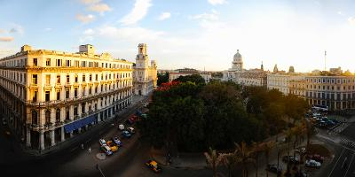 Buildings in a City, Parque Central, Old Havana, Havana, Cuba--Photographic Print