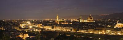 Buildings in a City, Ponte Vecchio, Arno River, Duomo Santa Maria Del Fiore, Florence, Tuscany, ...--Photographic Print