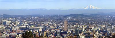 Buildings in a City Viewed from Pittock Mansion, Portland, Multnomah County, Oregon, USA 2010--Photographic Print