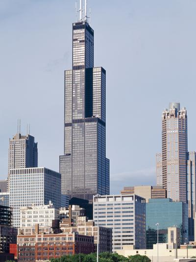 Buildings in a City, Willis Tower, Chicago, Cook County, Illinois, USA--Photographic Print