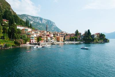Buildings in a Town at the Waterfront, Varenna, Lake Como, Lombardy, Italy--Photographic Print