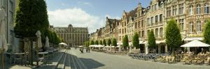 Buildings in a Town, Old Market Square, Leuven, Flemish Brabant, Flemish Region, Belgium