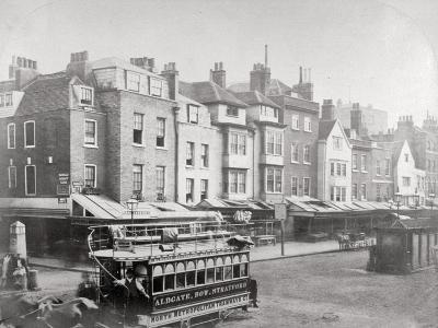 Buildings in Butcher Row, Aldgate High Street, City of London, C1875--Giclee Print