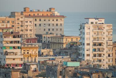 Buildings in Havana, Cuba with the Gulf of Mexico in the Background-Erika Skogg-Photographic Print