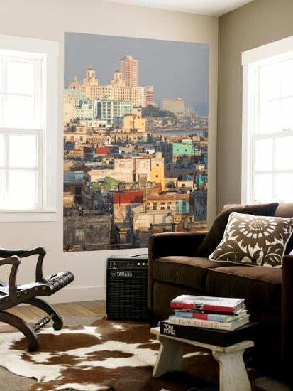 Buildings in Havana, Cuba with the Gulf of Mexico in the Background-Erika Skogg-Wall Mural