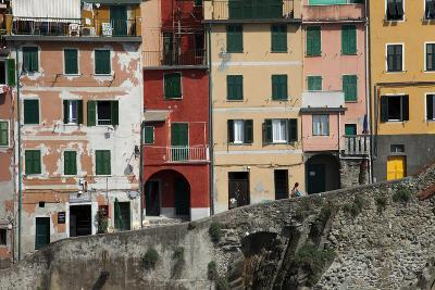 Buildings in Riomaggiore, One of Five Towns in the Cinque Terre-Scott S^ Warren-Photographic Print