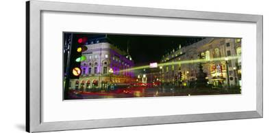 Buildings Lit Up at Night, Piccadilly Circus, London, England