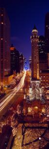 Buildings Lit Up at Night, Water Tower, Magnificent Mile, Michigan Avenue, Chicago, Cook County,...