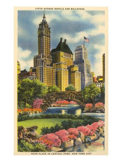 Buildings near Fifth Avenue, Central Park, New York City--Art Print