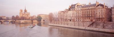 Buildings Near Seine River, Notre Dame, Paris, France--Photographic Print