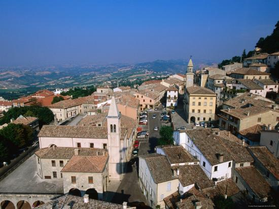 Buildings of Lower Town, San Marino, San Marino-John Elk III-Photographic Print