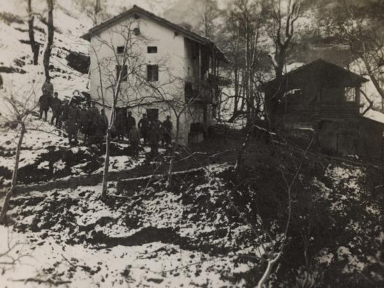 Buildings of the Section of Health in the Valley Doblar During the First World War-Luigi Verdi-Photographic Print