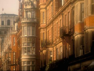 Buildings of Upper Grosvenor Street, Mayfair, London, England-Walter Bibikow-Photographic Print