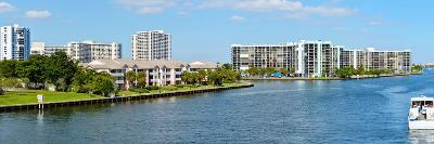 Buildings on Intracoastal Waterway, Hollywood Beach, Hollywood, Florida, USA--Photographic Print
