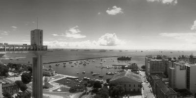 Buildings on the Coast, Lacerda Elevator, Pelourinho, Salvador, Bahia, Brazil--Photographic Print