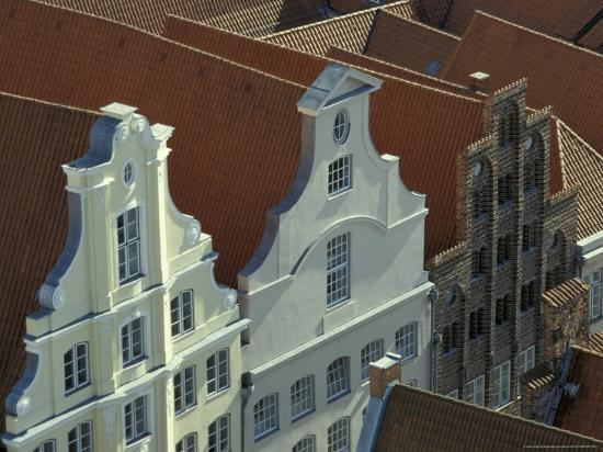 Buildings, Roofs and Facades, Lubeck, Germany-Michele Molinari-Photographic Print