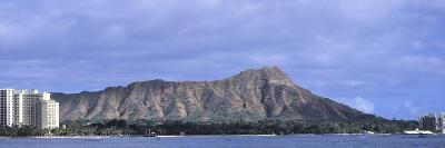 Buildings with Mountain Range in the Background, Diamond Head, Honolulu, Oahu, Hawaii, USA--Photographic Print