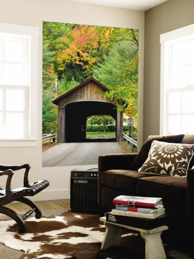 Built in 1837, Coombs Covered Bridge, Ashuelot River in Winchester, New Hampshire, USA-Jerry & Marcy Monkman-Wall Mural
