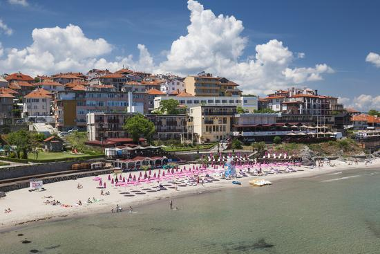 Bulgaria, Black Sea Coast, Sozopol, Town Beach-Walter Bibikow-Photographic Print