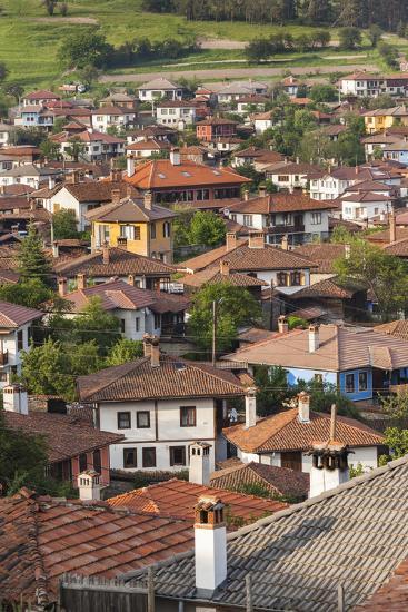 Bulgaria, Central Mountains, Koprivshtitsa, Elevated Village View-Walter Bibikow-Photographic Print